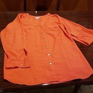 Woman Blouse 1X, Orange